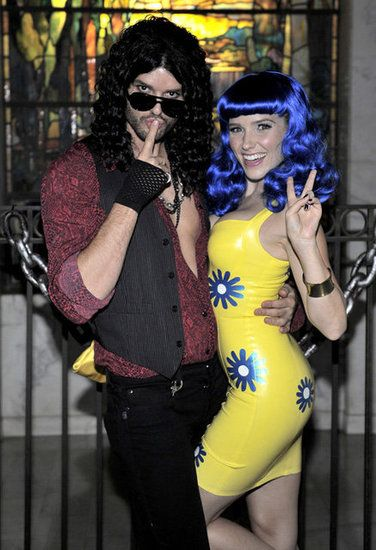 Celebrities Dressed as Other Celebrities on Halloween: Josh Duhamel and Fergie dressed up as Riff Raff from Rocky Horror Picture Show and Elvira for a party in LA. : Rachel Zoe and Rodger Berman went as Sonny and Cher. Source: Instagram user rachelzoe : Hugh Hefner sported a striped suit as Robin Thicke, re-creating the MTV VMAs performance with Crystal Harris as Miley Cyrus. Source: Twitter user hughhefner : Jesse Tyler Ferguson and Justin Mikita went to a Hollywood Halloween party as…