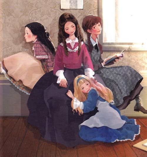 Little Women illustrations by Hanuol