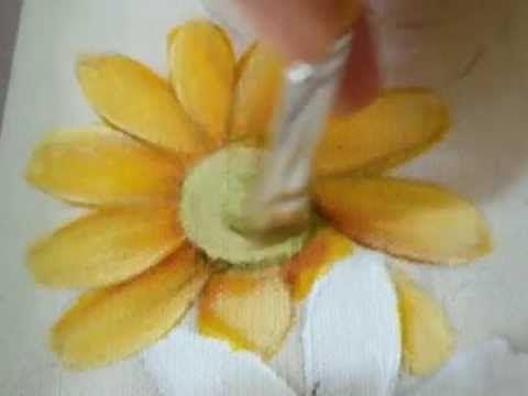 Eliane Nascimento: Minhas dicas de pintura - Como eu pinto Margaridas