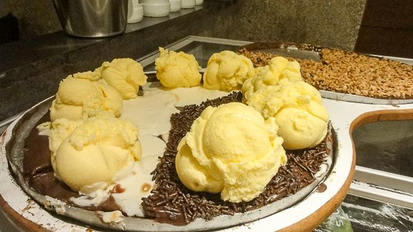Pizza with chocolate and ice-cream? Anyone?