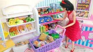 Frozen Elsa Disney Princess Barbie Doll Grocery Store Supermarket Toy