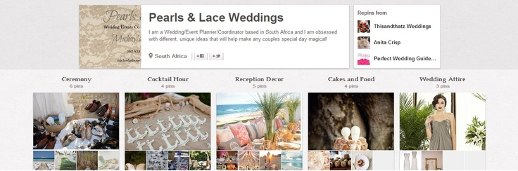 Please Follow Pearls & Lace Weddings, They pin amazing ideas of weddings and events!!! :)