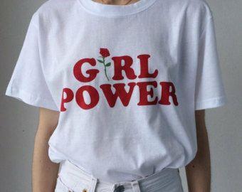 Girl Power Tshirt féminisme Tee Girl Power chemise 100 %