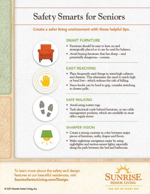 Safety Smarts for Seniors Infographic