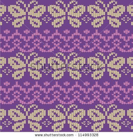 Ornamental pattern for knitting and embroidery