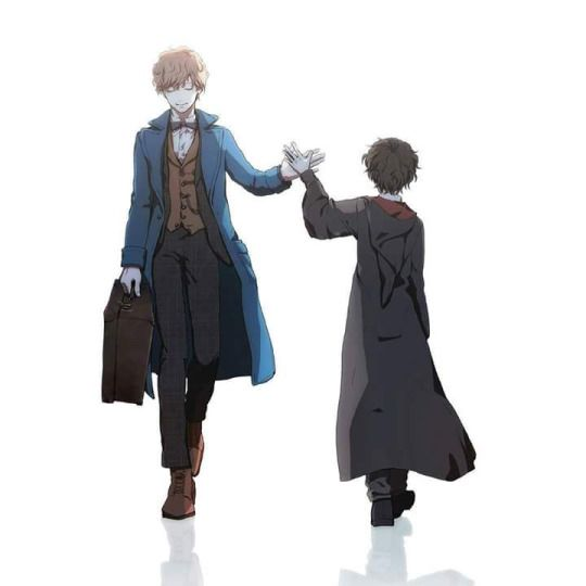 "Newt and Rigel S. Jons - A new wizard is come ✨ by ""diario da hogwarts"" a lilith2.0 fanfiction"
