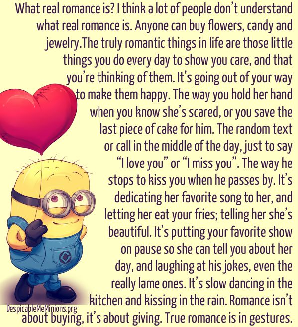 What Is Real Romance Relationships Pinterest Minions Quotes