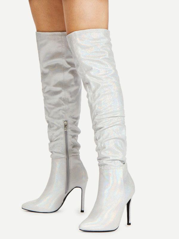a4d544d348 Stiletto Thigh High Boots -SheIn(Sheinside) | Hen's Night | Thigh ...