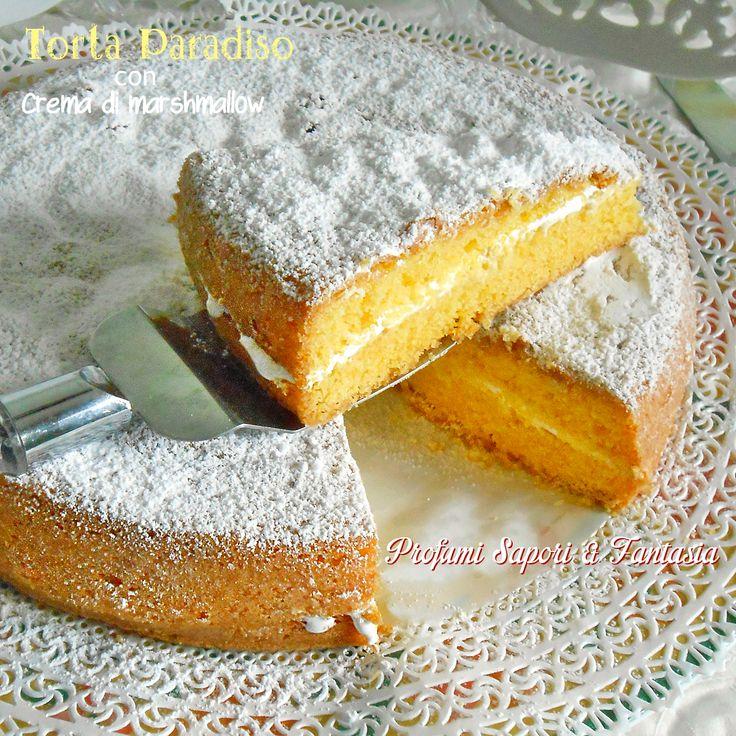 La torta Paradiso con crema di marshmallow sarà sicuramente graditissima dai bambini e adulti golosi. Ottima per feste e ricorrenze sarà più che gradita.