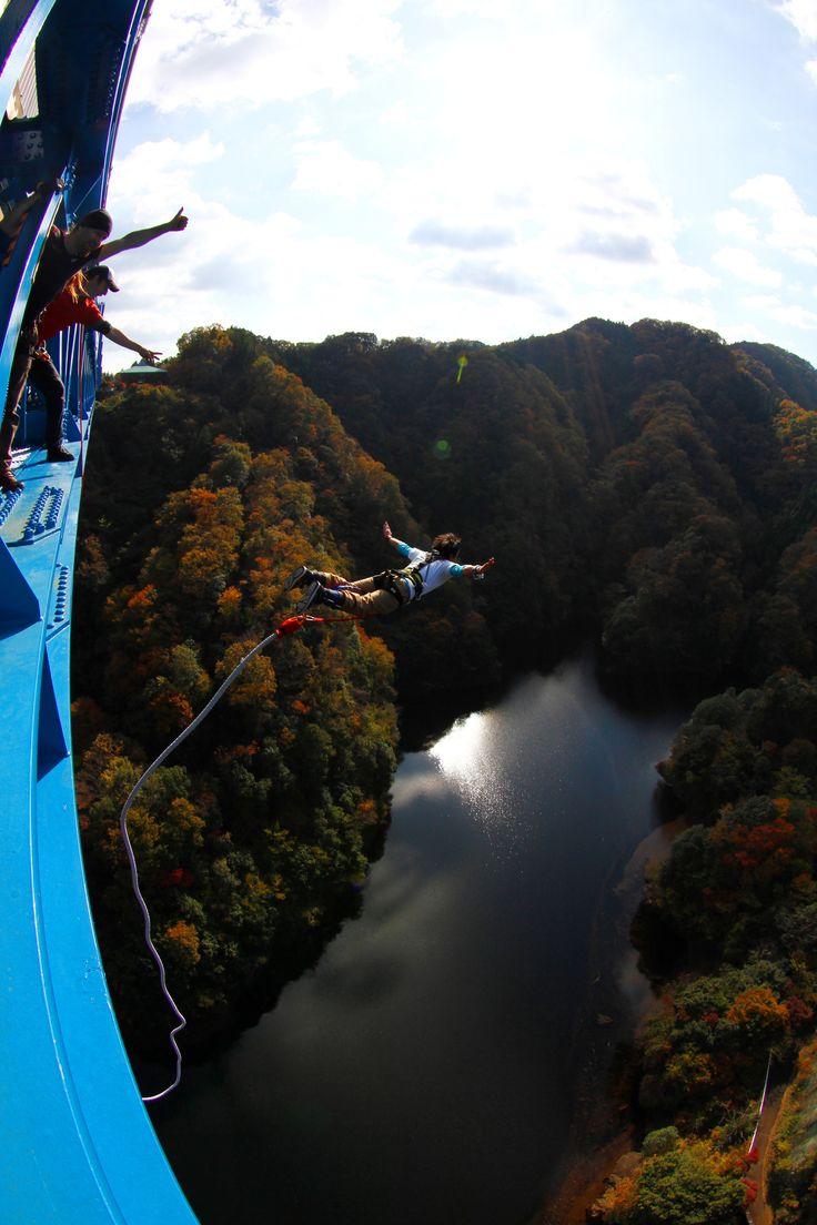 竜神大吊橋バンジージャンプ!高さ100m日本一! | 観光いばらき(茨城県の観光情報ポータルサイト)