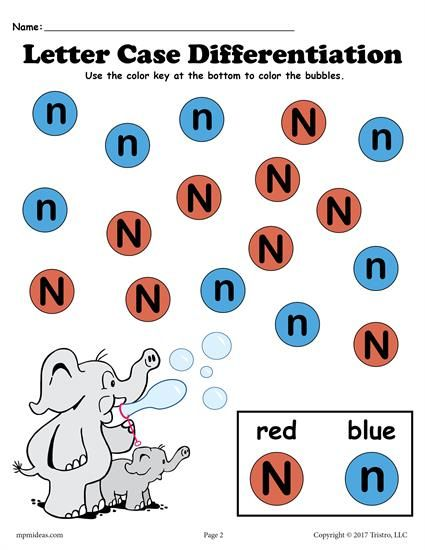 FREE Letter N Do-A-Dot printable for letter case differentiation practice. Also includes a customizable Do-A-Dot letter N worksheet where you can choose your own colors! Great for preschoolers and toddlers. Get both letter N worksheets here --> http://www.mpmschoolsupplies.com/ideas/7576/free-letter-n-do-a-dot-printables-for-letter-case-differentiation-practice/