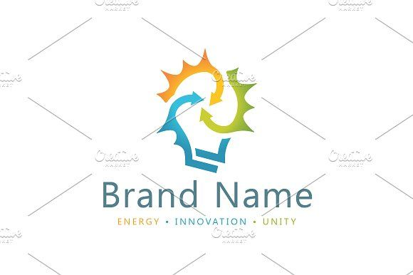 For sale. Only $29 - colorful, memorable, modern, simple, connection, cooperation, alliance, smart, clever, solution, idea, energy, power, lighting, synergy, nexus, junction, emitting, abstract, bulb, halo, radiant, light, arrow, logo, design, template,