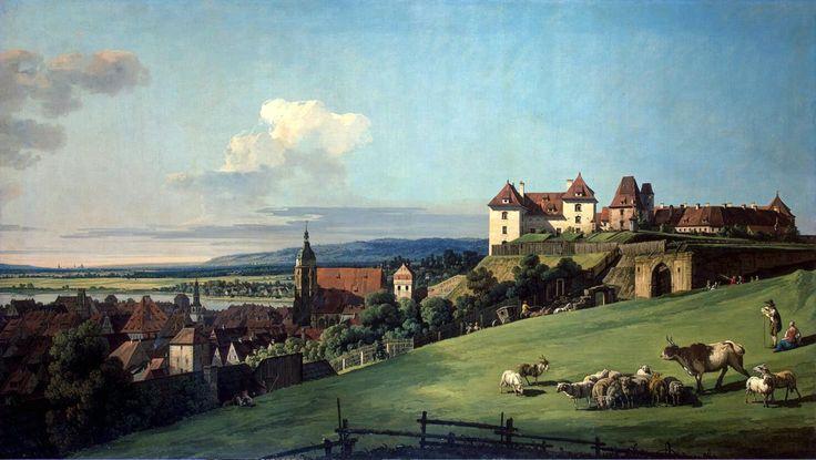 Вид Пирны от замка Зонненштайн. Бернардо Беллотто