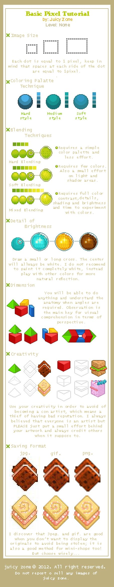 Basic Tutorial about pixel by JuicyZone
