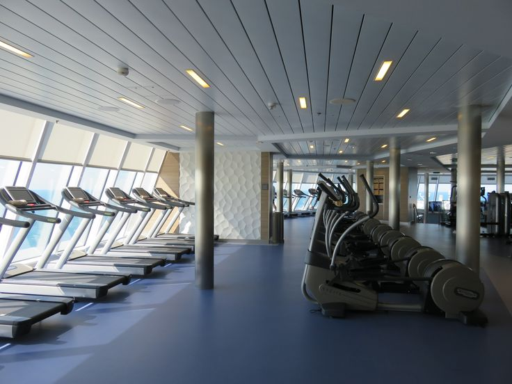 Royal Caribbean International - Naming of Athem of the Seas - The cardio part of the gym