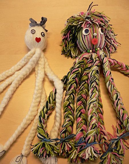 Inktvis van wol maken