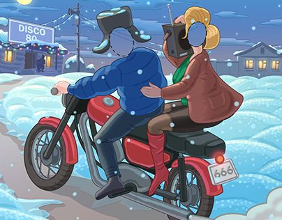 """Check out new work on my @Behance portfolio: """"Winter illustration in style of 80 th"""" http://be.net/gallery/33308069/Winter-illustration-in-style-of-80-th"""