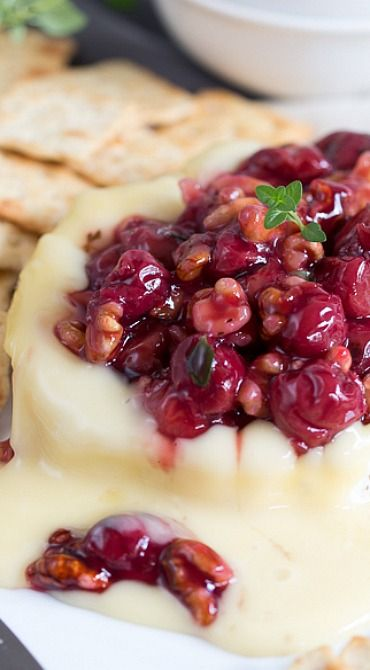 Savory Cherry Compote on Warm Brie Cheese