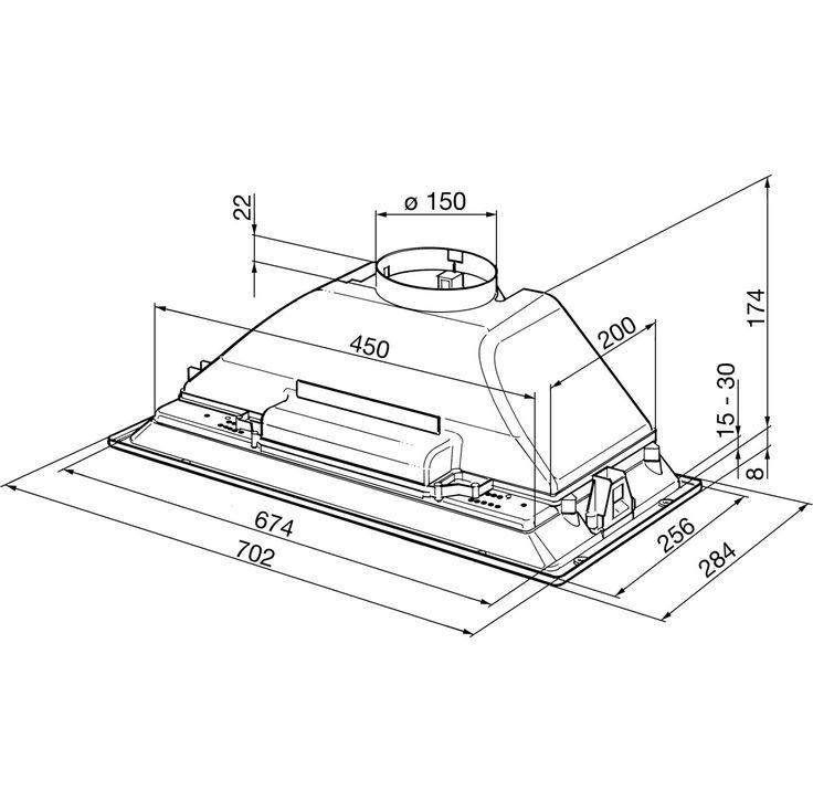 Smeg KSEG7E 70 cm Canopy Cooker Hood - Grey