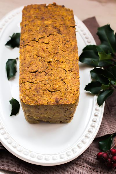 Pasztet wegetariański z cieciorką, brązową soczewicą i pieczarkami