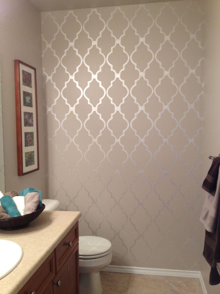 17 Best ideas about Bathroom Stencil on Pinterest Window