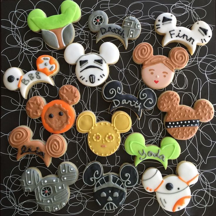 Star Wars Mouse Ears Decorated Sugar Cookies by Sweet Jenny Belle