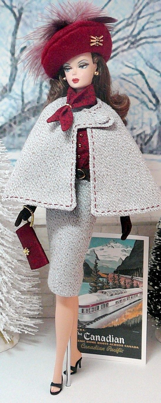 Around the World ~Use felt and the only sewing you have to do is to add a tiny snap or hook eye. Ink the stitch lines on the capelet!~ kj