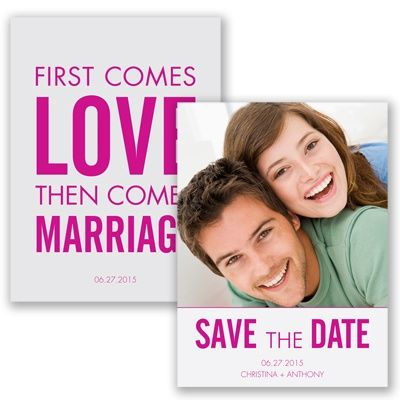 First Comes Love - Begonia - Save the Date