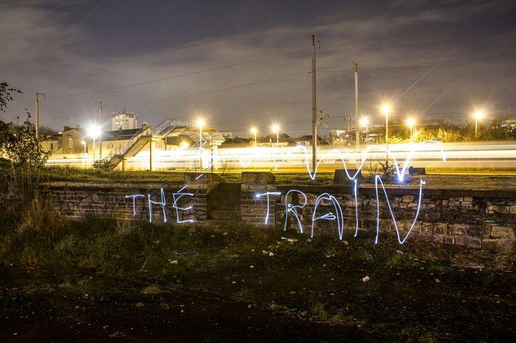 Écriture en light painting + train