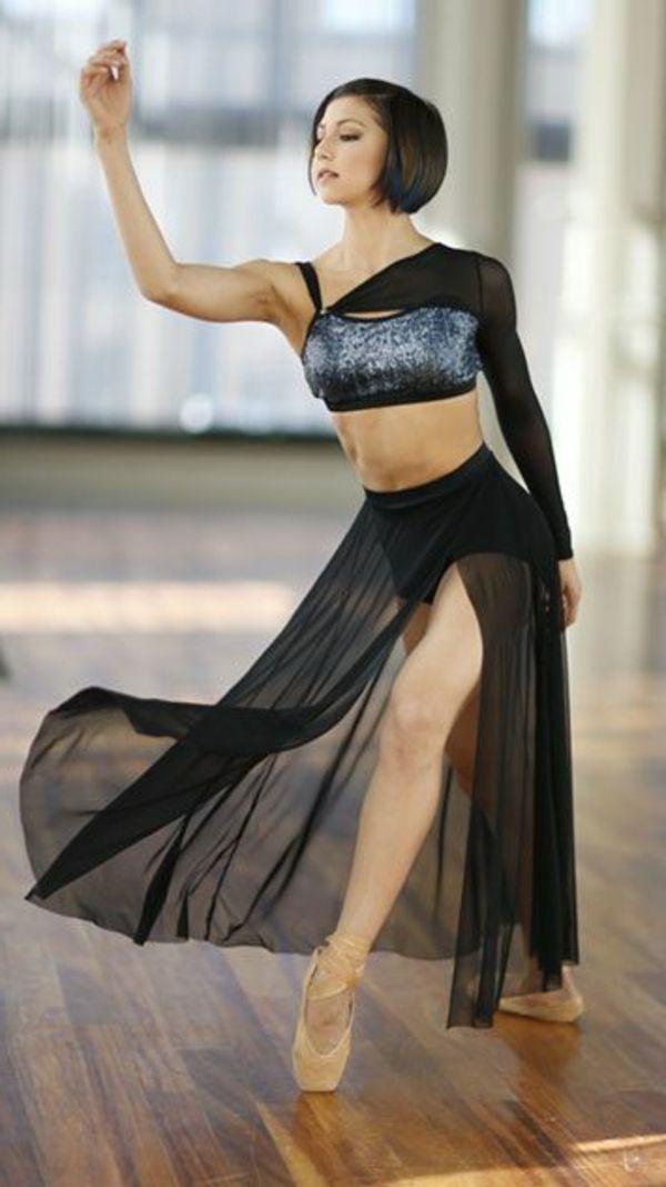 tenue de danse moderne, tenue scénique en deux parties