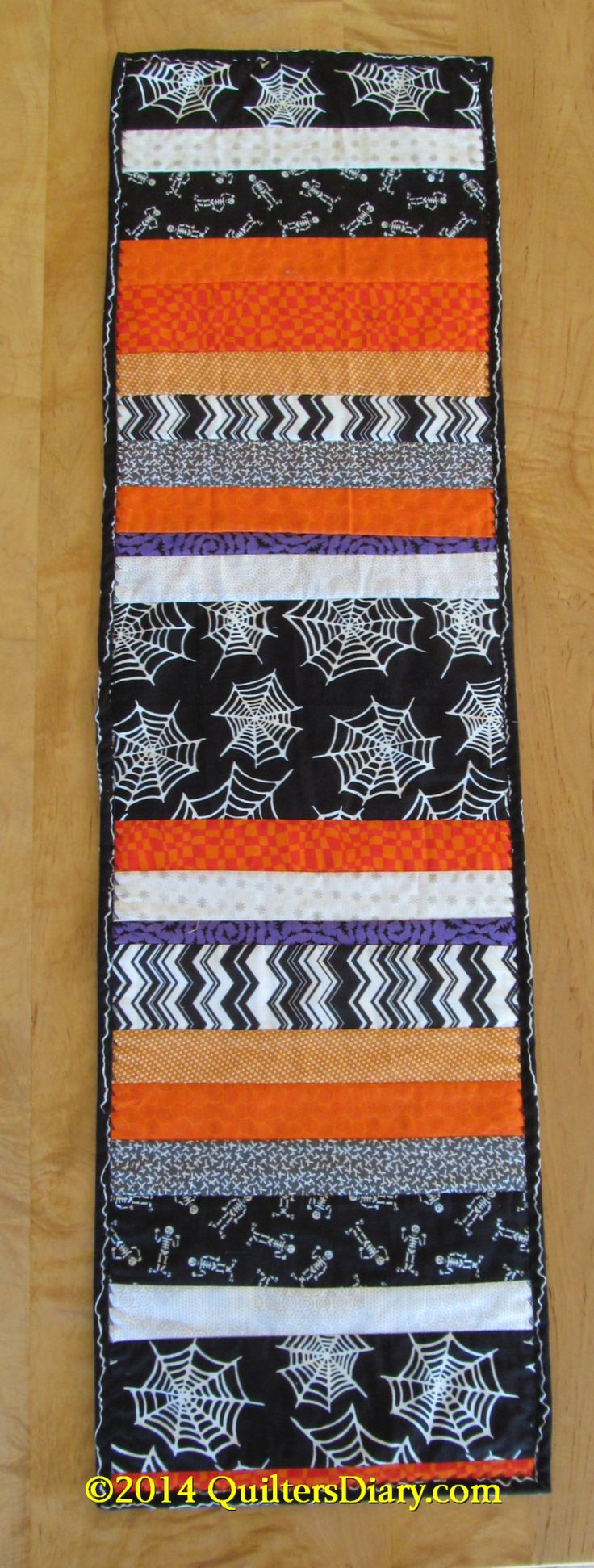 Halloween Quilt as you Go Table Runner