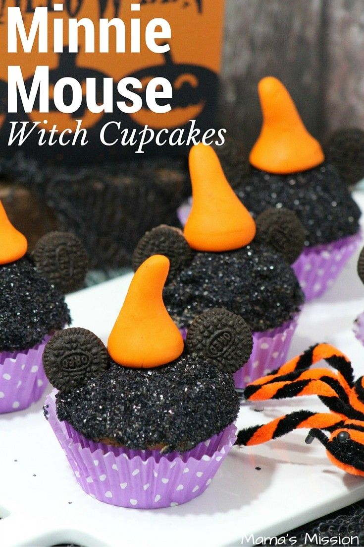 Minnie Mouse Witch Cupcakes Recipe Recipes Halloween