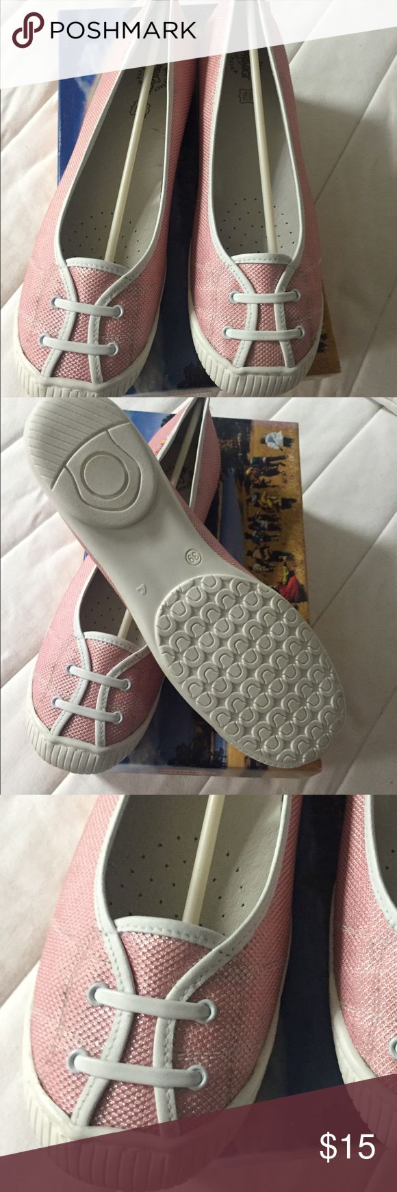 Primigi pink shoes Very comfortable pink flat shoes. New in a box Primigi Shoes Flats & Loafers