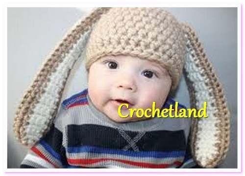 gorros tejidos a crochet niños conejito conejo