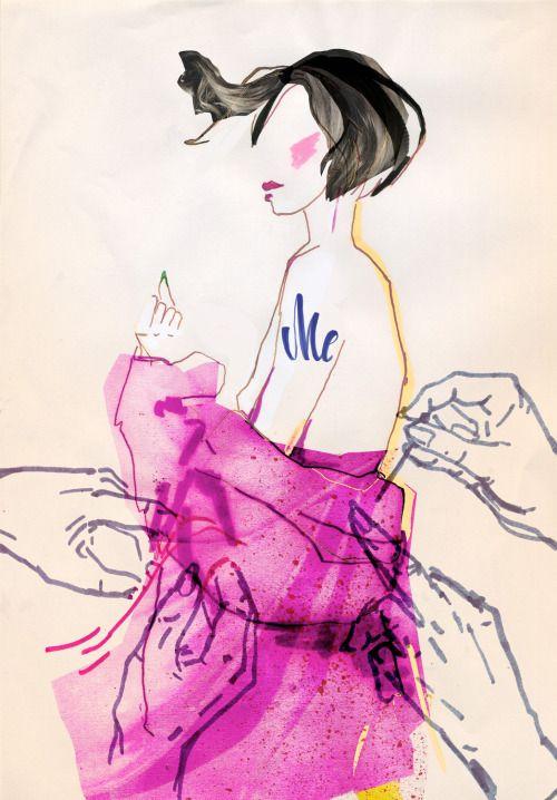 """different-irreplaceable"" - fashion illustration series"