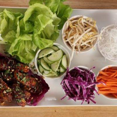 Thai Lettuce Wraps (Pioneer Woman) @keyingredient #chicken