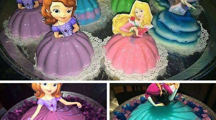 Bolos de Princesa feitos com Gelatina