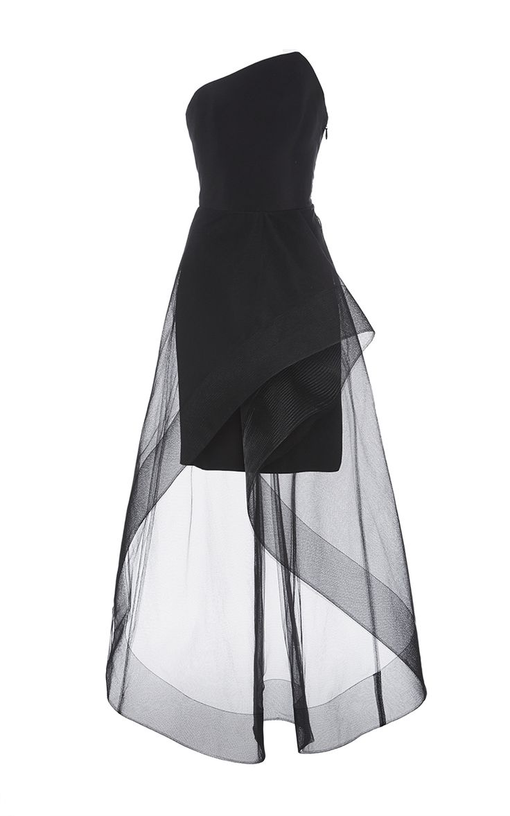 Asymmetrical Neck Cocktail Dress by Romona Keveža | Moda Operandi