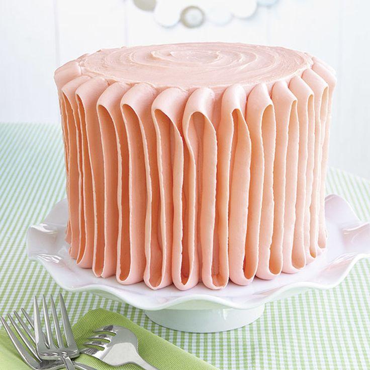 Plush Orange Ribbon Cake | Wilton