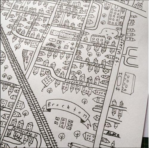 Tania Howells - map sketch