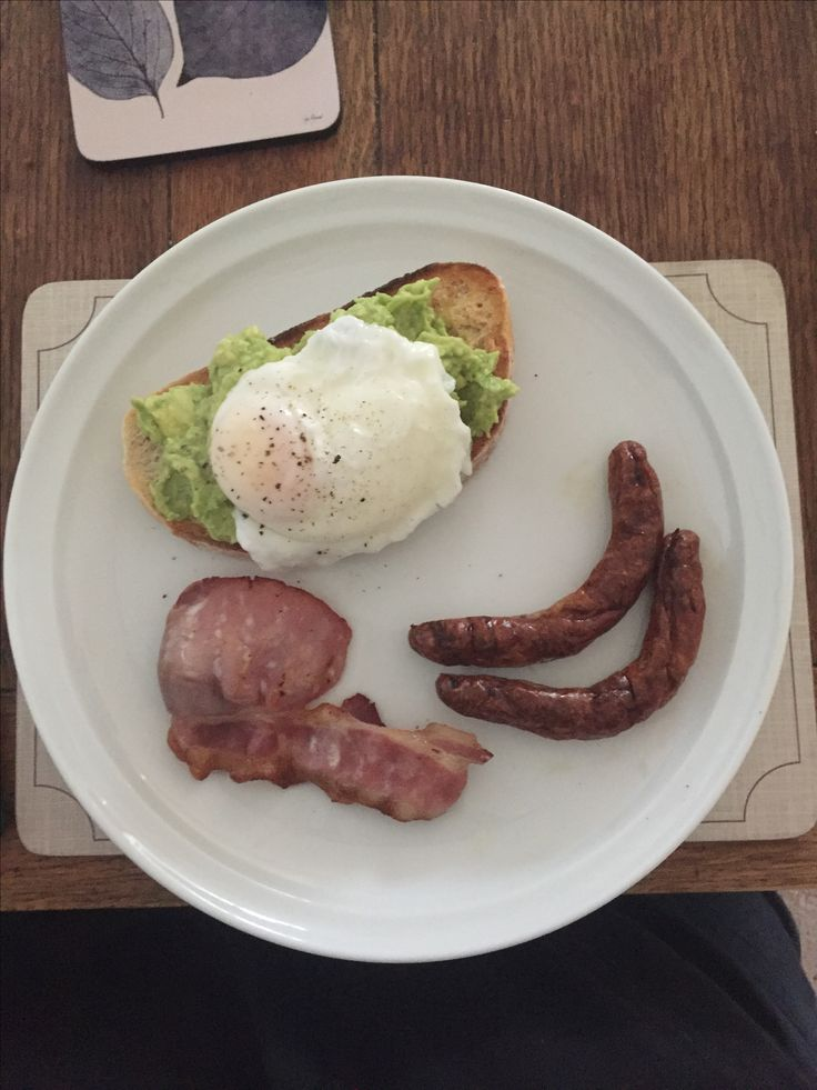 Sourdough with lime, avocado smash, poached egg, grilled bacon & chipolata. Perfect fuel after hours walk
