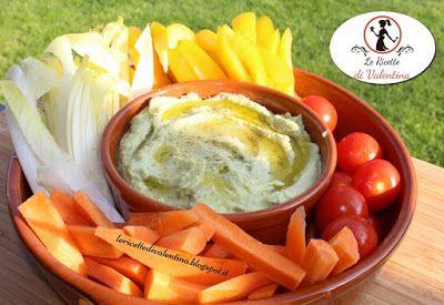 Le Ricette di Valentina: Hummus di avocado e fagioli bianchi con verdure cr...