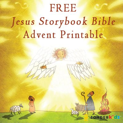Get our free advent calendar printable with illustrations from The Jesus Storybook Bible!