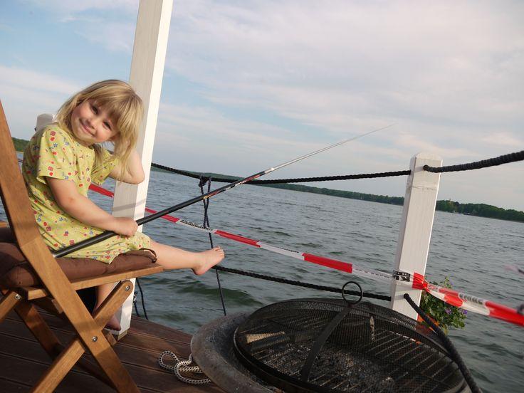 So macht angeln Spaß! Foto: Yvonne Scholz #Angeln #Bunbo #Hausboot #Hausbootverleih #Familie
