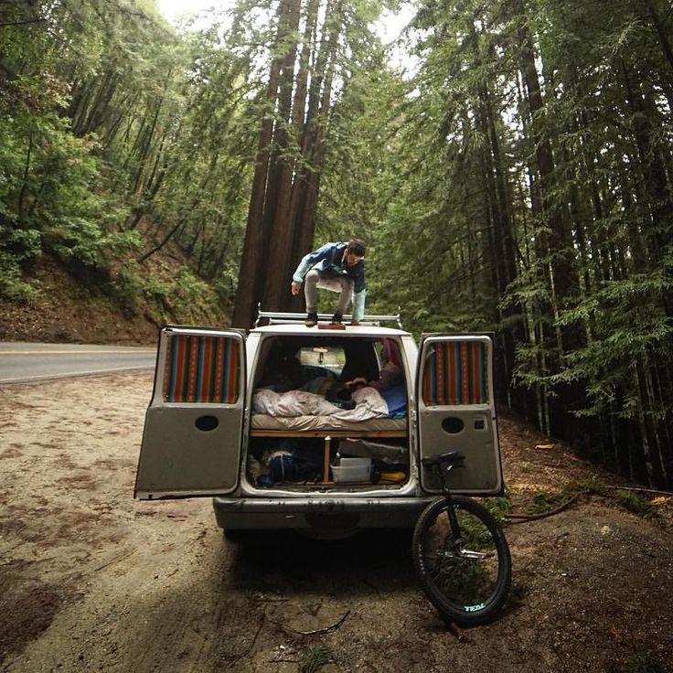 """""""Vanlife in the Santa Cruz mountains."""" Courtesy by @sondercam Thanks for TAG us! #vanlifers - - - - - #vanlife #vsco #vanlifediaries #cali #carbon #forest #santacruz #tealunicycles @tealunicycles #california #downhill #mountains #mountainunicycling #coffee #inthelab #outdoor #rei #tinyhouse #outsiders #camping #hiking #explore #adventure #getoutside #nature #backpacking #photooftheday #discover #instagood #hike"""