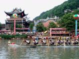Dragon Boat Festival in Fenghuang Ancient Town