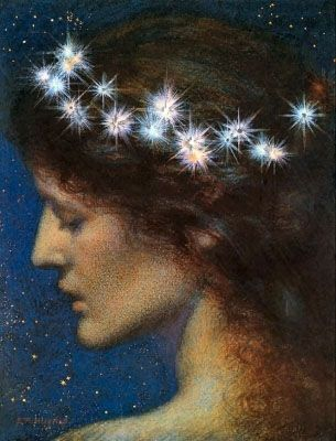 """Night"" by Edward Robert Hughes ~pre-raphaelite art"