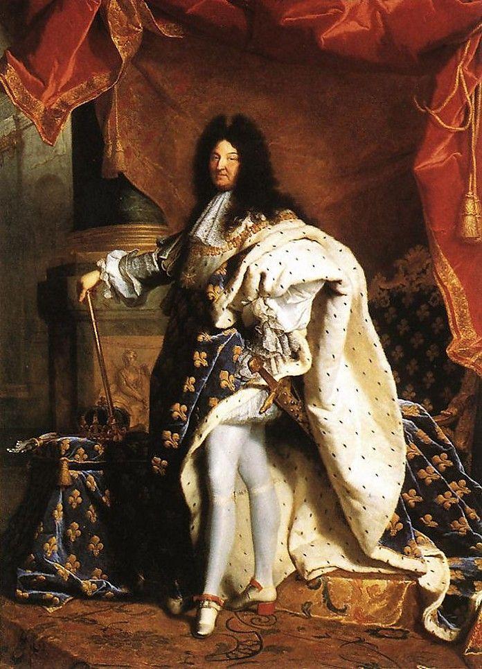Hyacinthe Rigaud, Portret van Lodewijk XIV, 1701, olieverf op doek, 279 x 240 cm, Musée du Louvre, Parijs - Meer over dit staatsieportret: http://www.artsalonholland.nl/meesterwerken/hyacinthe-rigaud-portret-van-lodewijk-xiv