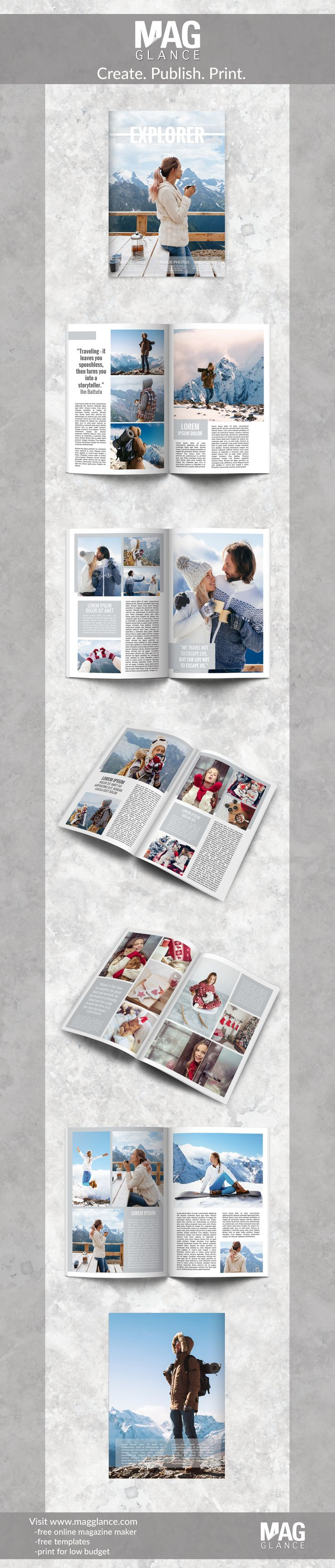 Create online a photo album and print it for low budget - register now for free at https://en.magglance.com/online-photo-album-maker-software #photo album #photos #magazine #photo-album-maker-software #example #design #template #make #create #layout #gift #online