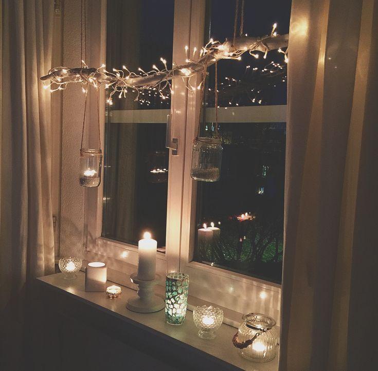 super #Weihnachten #Fensterdekoration #Kerzen #Wohnzimmer #Licht